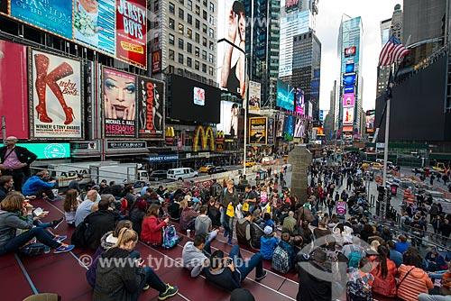 Pessoas na Times Square  - Cidade de Nova Iorque - Nova Iorque - Estados Unidos