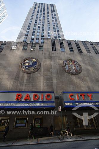 Fachada do Radio City Music Hall (1932)  - Cidade de Nova Iorque - Nova Iorque - Estados Unidos
