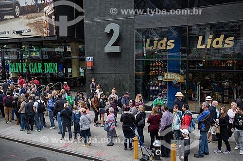 Turistas na Times Square  - Cidade de Nova Iorque - Nova Iorque - Estados Unidos