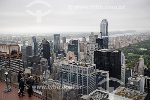 Vista do Central Park - a direita - a partir do terraço do top of the rock - mirante do Rockefeller Center  - Cidade de Nova Iorque - Nova Iorque - Estados Unidos