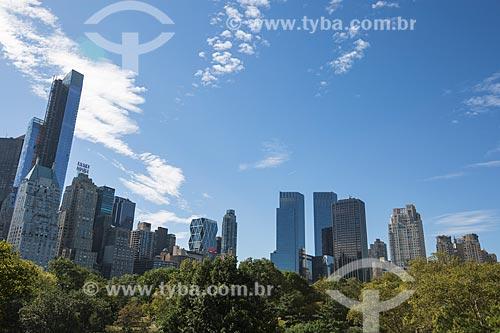 Vista de prédios a partir do Central Park  - Cidade de Nova Iorque - Nova Iorque - Estados Unidos