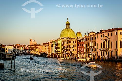 Grande Canal de Veneza com San Simeone Piccolo (Igreja)  - Veneza - Província de Veneza - Itália