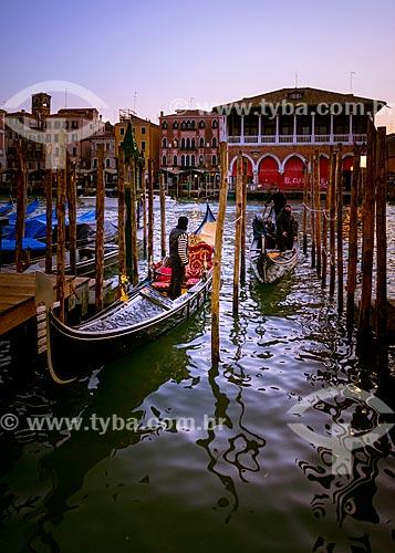 Gôndolas em Veneza  - Veneza - Província de Veneza - Itália