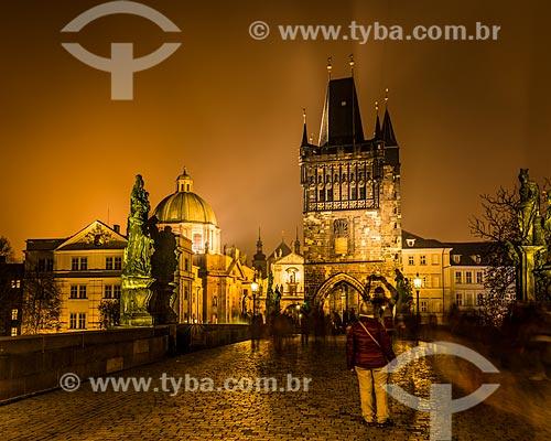 Ponte Carlos (Charles Bridge)  - Praga - Região da Boêmia Central - República Tcheca