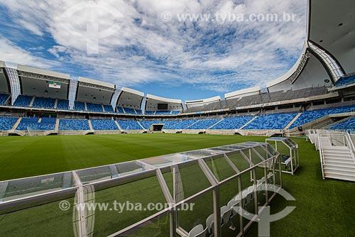 Interior da Arena das Dunas (2014) após construção para a Copa do Mundo no Brasil  - Natal - Rio Grande do Norte (RN) - Brasil