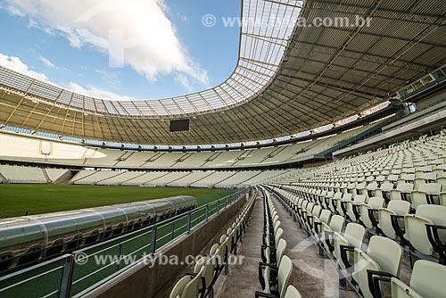 Interior do Estádio Governador Plácido Castelo (1973) - também conhecido como Castelão - após as reformas para a Copa do Mundo no Brasil  - Fortaleza - Ceará (CE) - Brasil