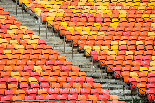 Interior da Arena da Amazônia Vivaldo Lima (2014) após as reformas para a Copa do Mundo no Brasil  - Manaus - Amazonas (AM) - Brasil