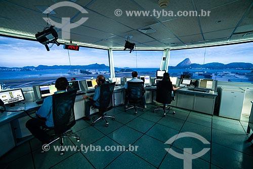 Interior da torre de controle do Aeroporto Santos Dumont  - Rio de Janeiro - Rio de Janeiro (RJ) - Brasil