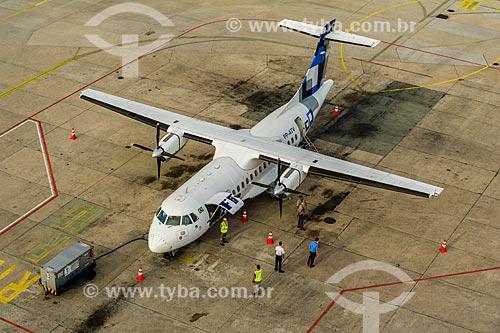 Avião no Aeroporto Santos Dumont  - Rio de Janeiro - Rio de Janeiro (RJ) - Brasil