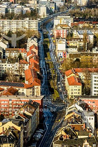 Vista geral da cidade de Frankfurt  - Frankfurt - Hesse - Alemanha