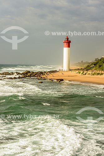 Farol na Praia de uMhlanga  - Durban - Província KwaZulu-Natal - África do Sul