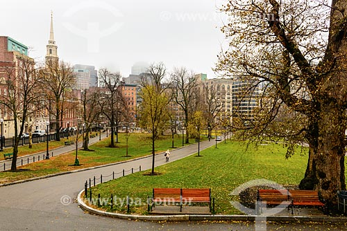 Vista do Boston Common (1634)  - Boston - Massachusetts - Estados Unidos