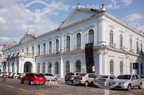 Fachada posterior do Palácio Antônio Lemos - Sede da Prefeitura da cidade de Belém e também do Museu da Cabanagem (MABE)  - Belém - Pará (PA) - Brasil
