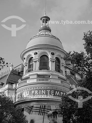 Fachada da Loja de Departamento Printemps (1865)  - Paris - Paris - França