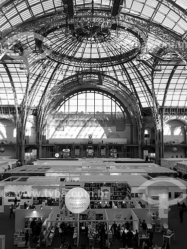 Interior do Grand Palais des Beaux-Arts (Grande Palácio de Belas Artes) - 1900  - Paris - Paris - França