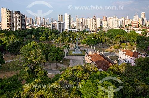 Praça da República com os prédios do bairro Reduto ao fundo  - Belém - Pará (PA) - Brasil