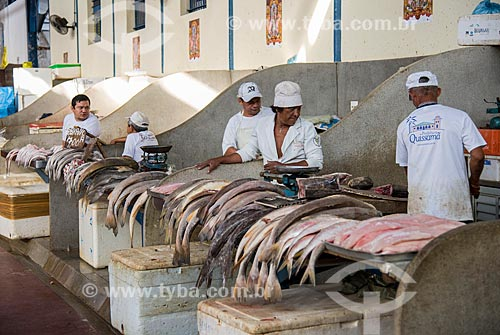 Peixes à venda no interior do Mercado Ver-o-peso  - Belém - Pará (PA) - Brasil