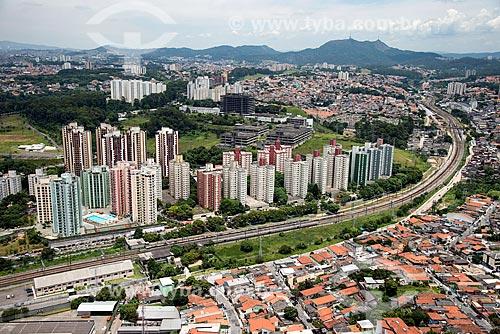 Foto aérea de prédios no bairro Piqueri próximo à Estação Piqueri do Metrô São Paulo  - São Paulo - São Paulo (SP) - Brasil