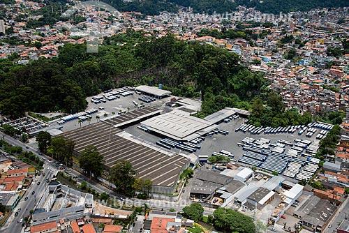 Foto aérea de garagem de ônibus da empresa Sambaíba Transportes Urbanos  - São Paulo - São Paulo (SP) - Brasil