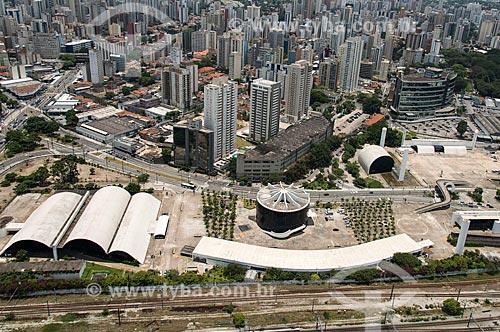 Foto aérea do Memorial da América Latina (1989)  - São Paulo - São Paulo (SP) - Brasil