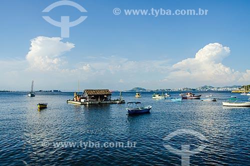 Casa flutuante na Baía de Guanabara  - Rio de Janeiro - Rio de Janeiro (RJ) - Brasil