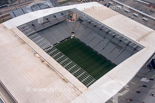 Foto aérea das obras da Arena Corinthians  - São Paulo - São Paulo (SP) - Brasil