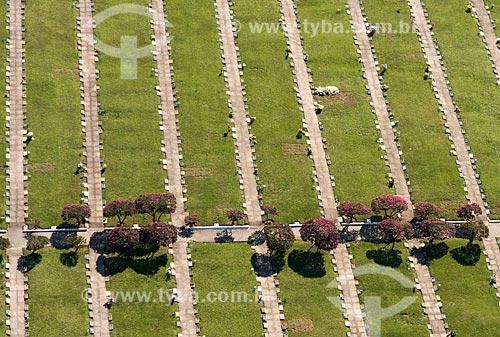 Foto aérea do Cemitério do Horto Florestal  - São Paulo - São Paulo (SP) - Brasil