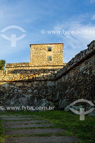 Fachada da Fortaleza de São José da Ponta Grossa (século XVIII)  - Florianópolis - Santa Catarina (SC) - Brasil