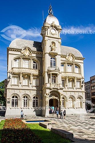 Fachada do Paço Municipal (1916) - antiga sede da prefeitura de Curitiba, atual Museu Paranaense  - Curitiba - Paraná (PR) - Brasil