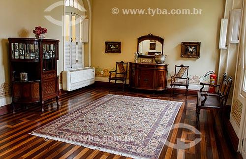 Interior do Museu Casa de Eduardo Ribeiro - casa em que o ex-Governador do Amazonas Eduardo Gonçalves Ribeiro viveu  - Manaus - Amazonas (AM) - Brasil