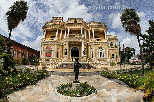 Fachada do Centro Cultural Palácio Rio Negro (século XX) - antiga sede do Governo do Estado  - Manaus - Amazonas (AM) - Brasil