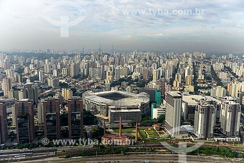 Foto aérea da Allianz Parque - também conhecida como Arena Palmeiras  - São Paulo - São Paulo (SP) - Brasil