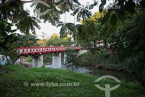 Ponte do Carmo sobre o Rio das Almas  - Pirenópolis - Goiás (GO) - Brasil