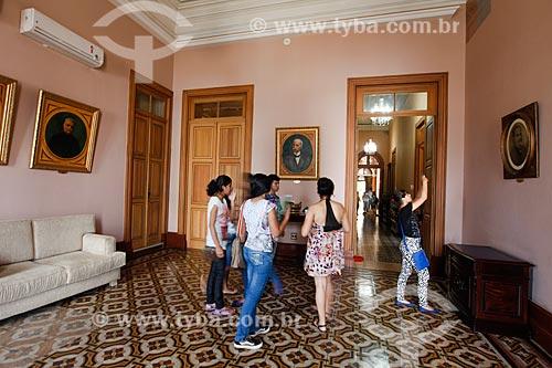Interior do Centro Cultural Palácio da Justiça (1900) - Antiga sede do Tribunal de Justiça de Manaus  - Manaus - Amazonas (AM) - Brasil