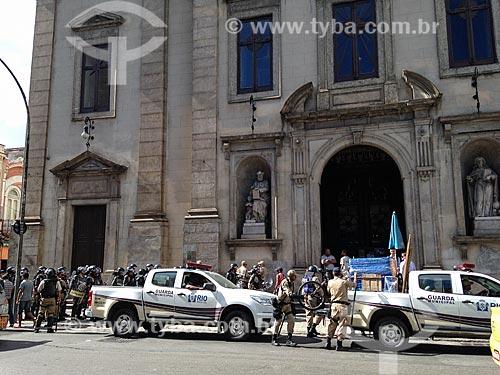 Guarda Municipal trabalhando no Centro da cidade  - Rio de Janeiro - Rio de Janeiro (RJ) - Brasil