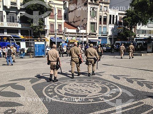 Guarda Municipal trabalhando na Pra Tiradentes  - Rio de Janeiro - Rio de Janeiro (RJ) - Brasil