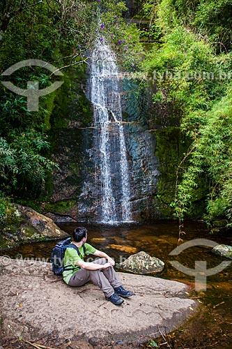 Cachoeira Véu da Noiva na trilha para o Morro da Cruz - Parque Nacional da Serra dos Órgãos  - Teresópolis - Rio de Janeiro (RJ) - Brasil