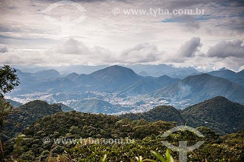 Cidade de Teresópolis vista da trilha para o Morro da Cruz - Parque Nacional da Serra dos Órgãos  - Teresópolis - Rio de Janeiro (RJ) - Brasil