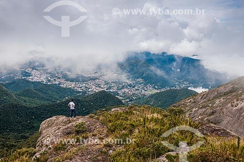 Cidade de Teresópolis vista do Morro da Cruz - Parque Nacional da Serra dos Órgãos  - Teresópolis - Rio de Janeiro (RJ) - Brasil