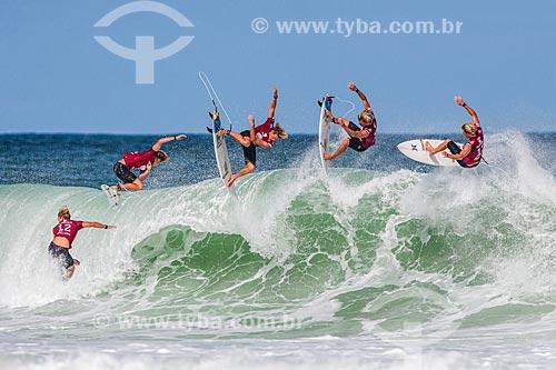 Campeonato mundial de surf (World Surf League) - Etapa Rio Pro - John John Florence surfando  - Rio de Janeiro - Rio de Janeiro (RJ) - Brasil