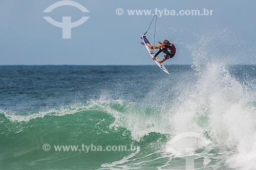 Campeonato mundial de surf (World Surf League) - Etapa Rio Pro - Josh Kerr surfando  - Rio de Janeiro - Rio de Janeiro (RJ) - Brasil