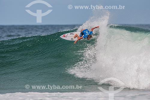 Campeonato mundial de surf (World Surf League) - Etapa Rio Pro - Matt Wilkinson surfando  - Rio de Janeiro - Rio de Janeiro (RJ) - Brasil