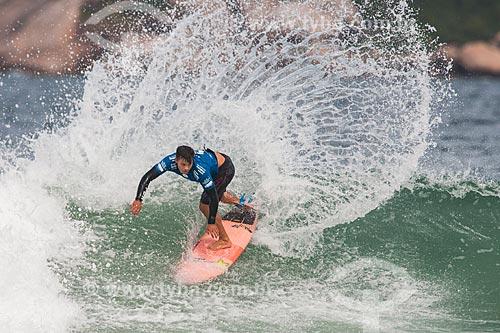 Campeonato mundial de surf (World Surf League) - Etapa Rio Pro - Keanu Asing surfando  - Rio de Janeiro - Rio de Janeiro (RJ) - Brasil
