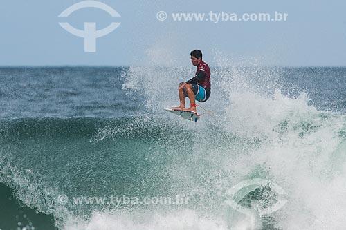 Campeonato mundial de surf (World Surf League) - Etapa Rio Pro - Gabriel Medina surfando  - Rio de Janeiro - Rio de Janeiro (RJ) - Brasil