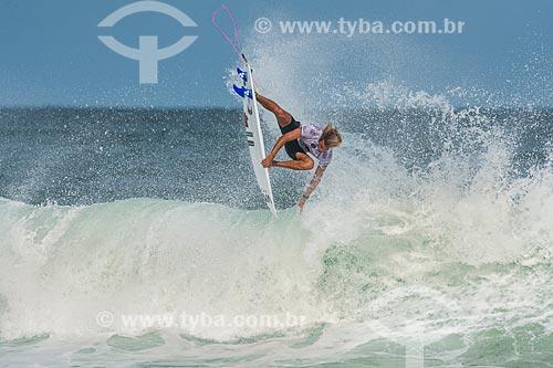 Campeonato mundial de surf (World Surf League) - Etapa Rio Pro - Ricardo Christie surfando  - Rio de Janeiro - Rio de Janeiro (RJ) - Brasil