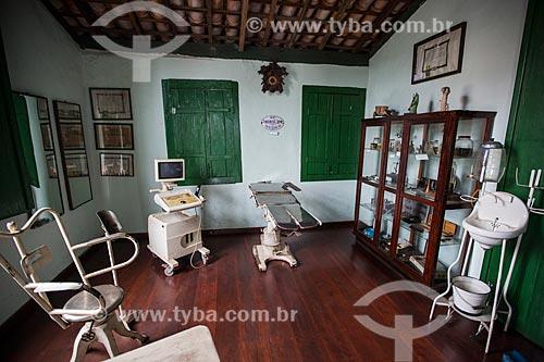 Interior do antigo consultório no Museu Histórico de Anápolis Alderico Borges de Carvalho  - Anápolis - Goiás (GO) - Brasil