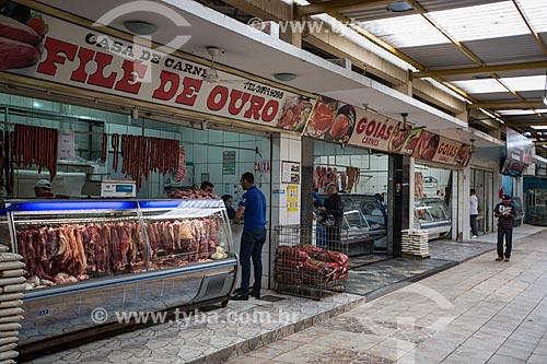 Açougues no interior do Mercado Municipal Carlos de Pina  - Anápolis - Goiás (GO) - Brasil