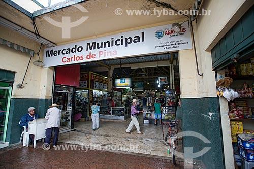 Entrada do Mercado Municipal Carlos de Pina  - Anápolis - Goiás (GO) - Brasil