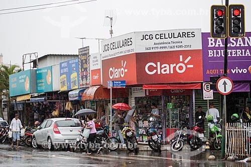 Lojas de telefones celulares na Rua Tonico de Pina  - Anápolis - Goiás (GO) - Brasil