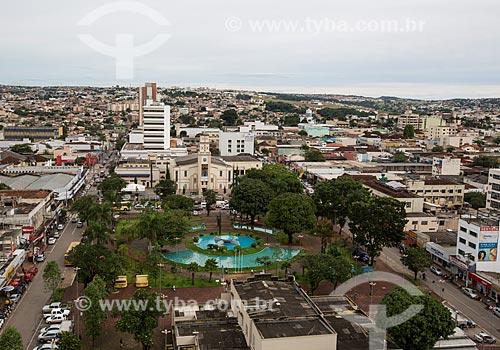 Vista geral da da Praça Bom Jesus  - Anápolis - Goiás (GO) - Brasil